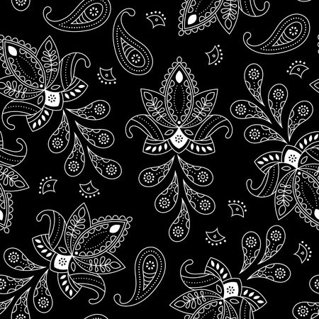 Black background : Paisley background