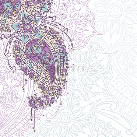 Traditional : Paisley design