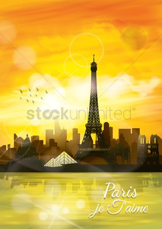 Buildings : Paris je faime poster