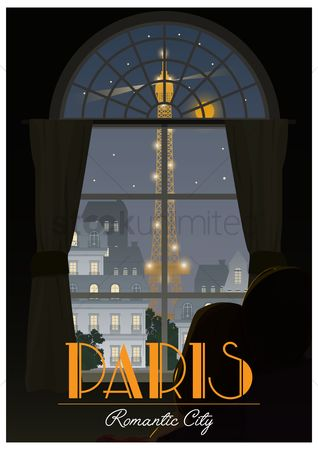 Buildings : Paris poster