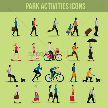 Boys : Park activities icons