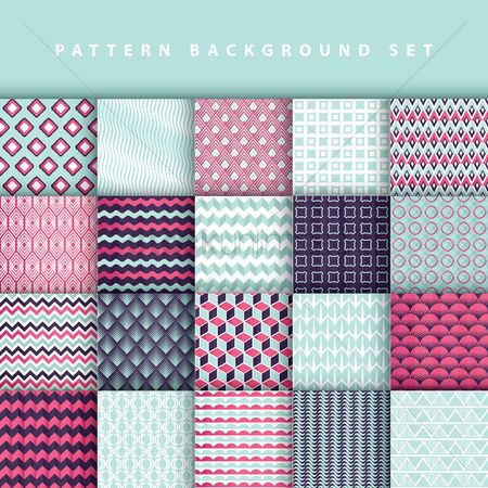 Wallpaper : Pattern background set