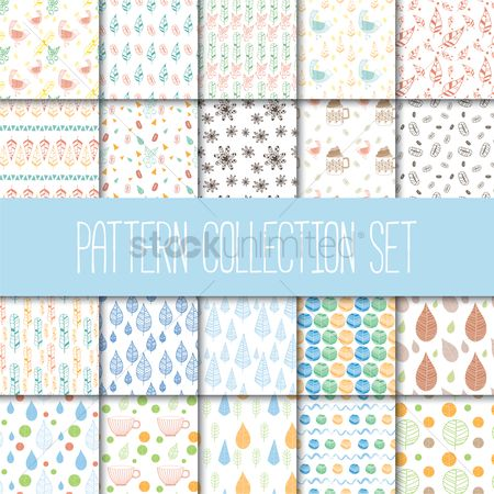 Wallpaper : Pattern collection set