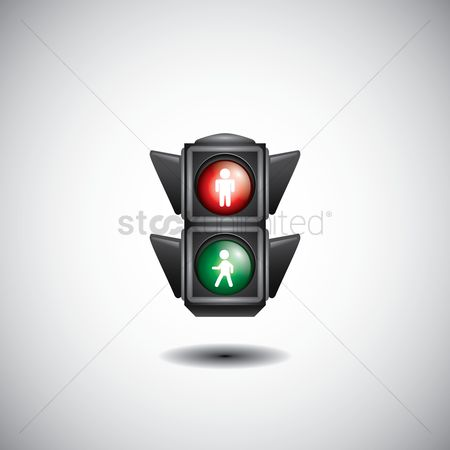 Attention : Pedestrian crossing traffic signal