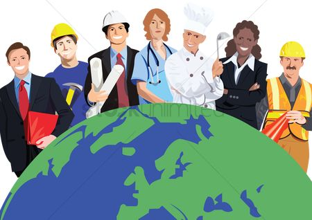 Health cares : People from various professions around the world