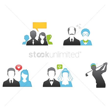 Love speech bubble : People icons
