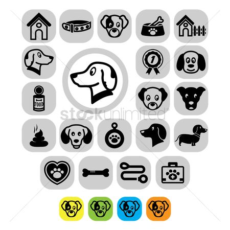 Weight : Pet icon set