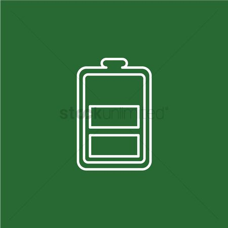 Charging icon : Phone battery sign
