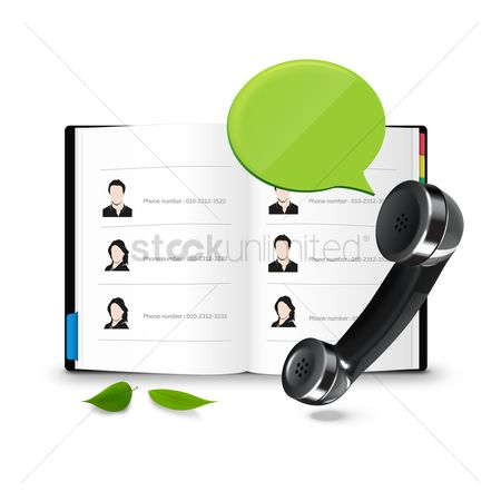 Address : Phone with address book and chat bubble