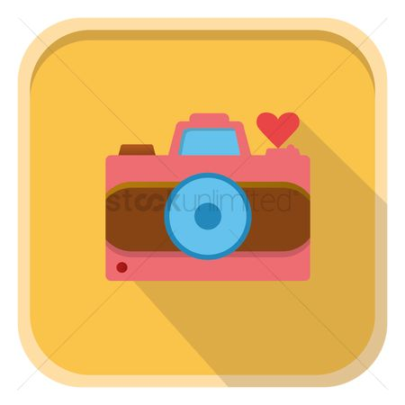 Heart : Photo camera with heart