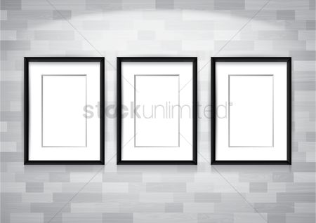 Interior : Photo frames on wall