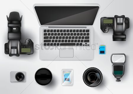 Photography : Photographer workspace desk