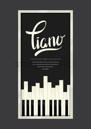 Percussions : Piano poster