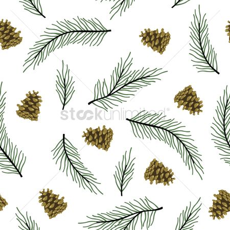Cones : Pine leaves and cones background