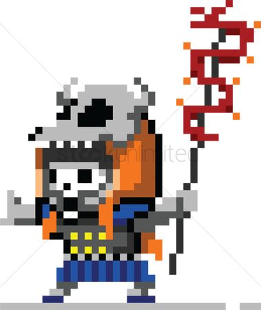 Staffs : Pixel art gaming character