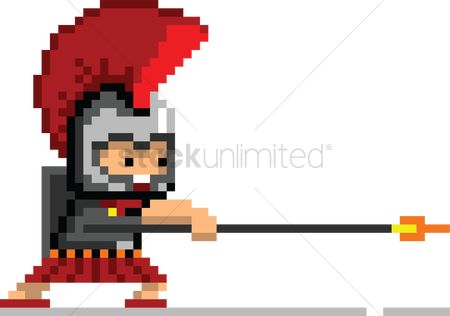 Soldier : Pixel art gaming character