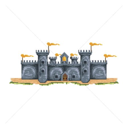 Royal : Pixelated castle structure
