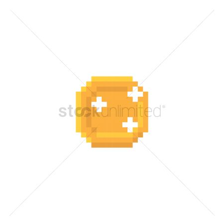 Value : Pixelated gold coin