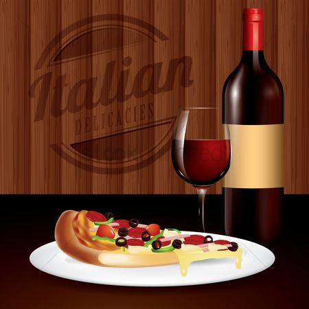 Traditions : Pizza and wine served