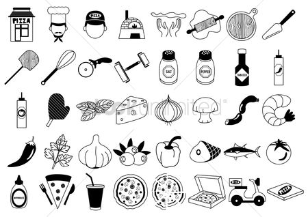 Junk food : Pizza icons