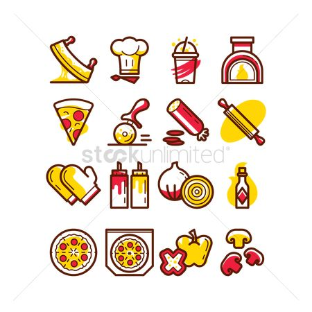 Boxes : Pizza icons