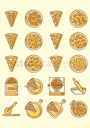 Plates : Pizza icons