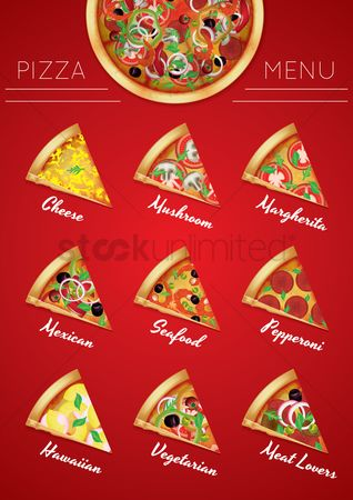Textures : Pizza menu poster