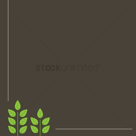 Stems : Plants with black background