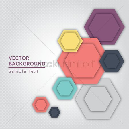 Geometrics : Polygons background for text