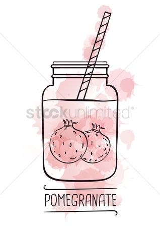 Straw : Pomegranate smoothie