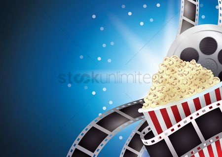 Eat : Popcorn with film reel