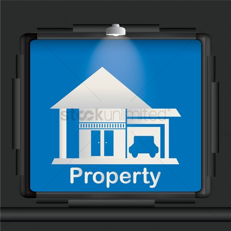 Lighting : Property advertisement board