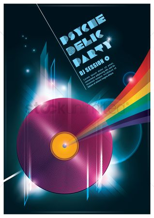 Dj : Psyche delic party poster