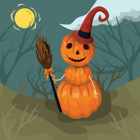 Broom : Pumpkin witch