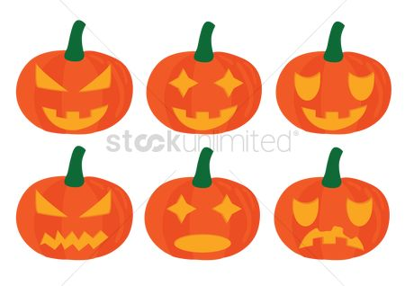 Jack : Pumpkins with different expressions