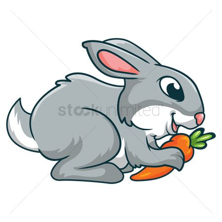 Eat : Rabbit holding carrot