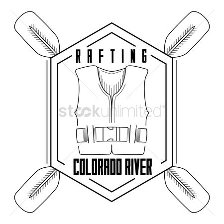 Paddle : Rafting colarado river label