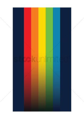 Mobiles : Rainbow colored background