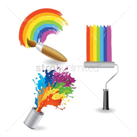 Brushes : Rainbow paint collection
