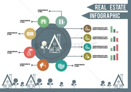 Wallpaper : Real estate infographic