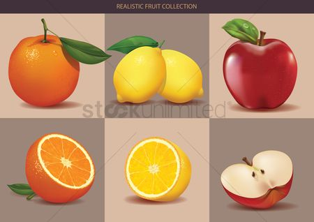 Slice : Realistic fruit collection