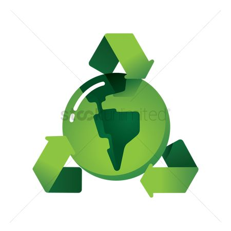 Wastage : Recycle green earth symbol