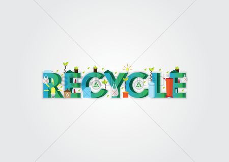 Aware : Recycle lettering design