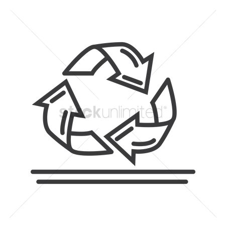 Wastage : Recycle symbol