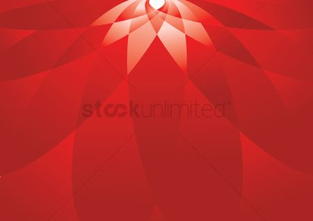 Red : Red geometric flower