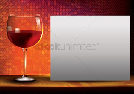 Lighting : Red wine poster design