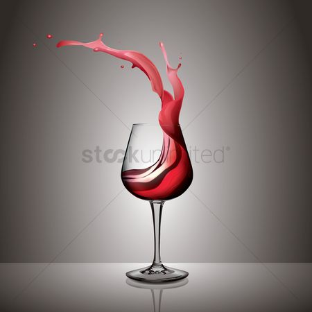 Red wines : Red wine splash in a glass