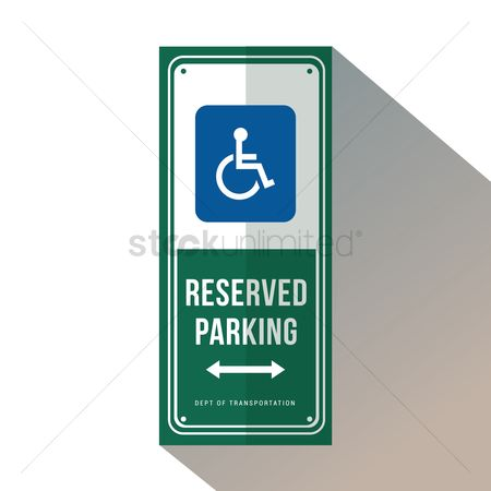 Wheelchair : Reserved parking for handicapped