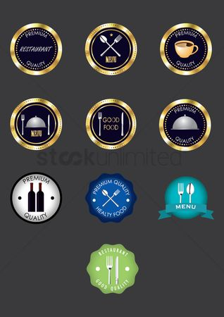 Insignia : Restaurant icon set