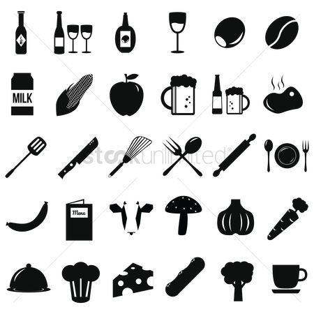 Beer mug : Restaurant icon set